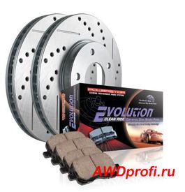 Тормозные диски + колодки задние Lexus LX450D, LX 450D 16 +